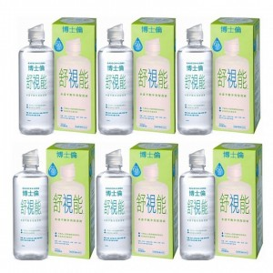 博士倫舒視能水漾平衡保養液【300ML】6瓶組