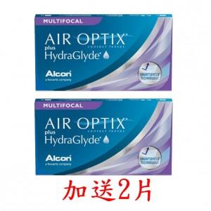 愛爾康AIR OPTIX〈舒視氧〉親水聚合老花月拋隱形眼鏡【3片裝】2盒加送2片