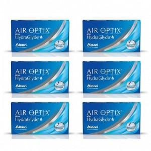 愛爾康AIR OPTIX〈舒視氧〉親水聚合月拋【3片裝】6盒