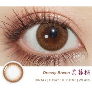 GEO〈Dressy〉系列彩色月拋隱形眼鏡【1片瓶裝】2瓶
