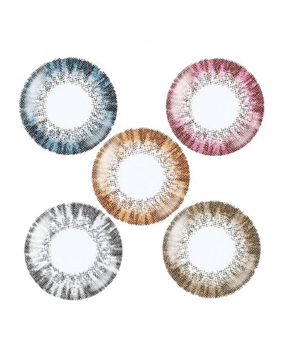 晶碩〈LUMI〉彩色月拋隱形眼鏡【2片裝】2盒