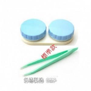 隱形眼鏡水盒+夾子【1組】(顏色隨機出貨)