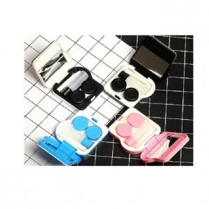 可愛隱形眼鏡伴侶鏡盒1個(顏色造型隨機出貨)